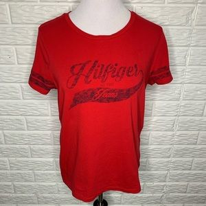 Tommy Hilfiger Red & Blue Tee T-Shirt Size L